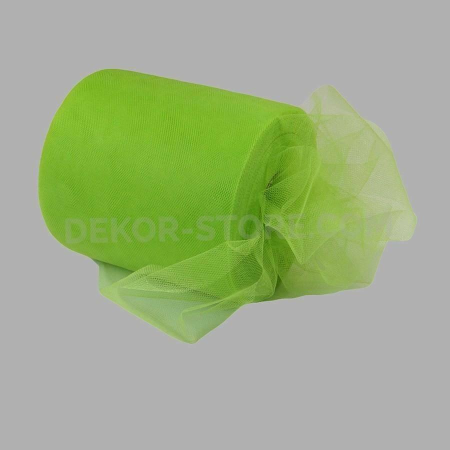 rgb tulle verde mela - 15 cm x 100 mt