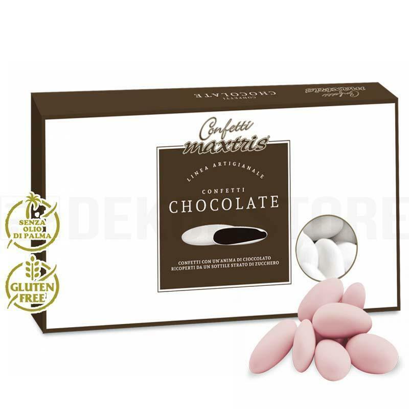 maxtris maxtris cioccolato - confetti  - rosa (1kg)