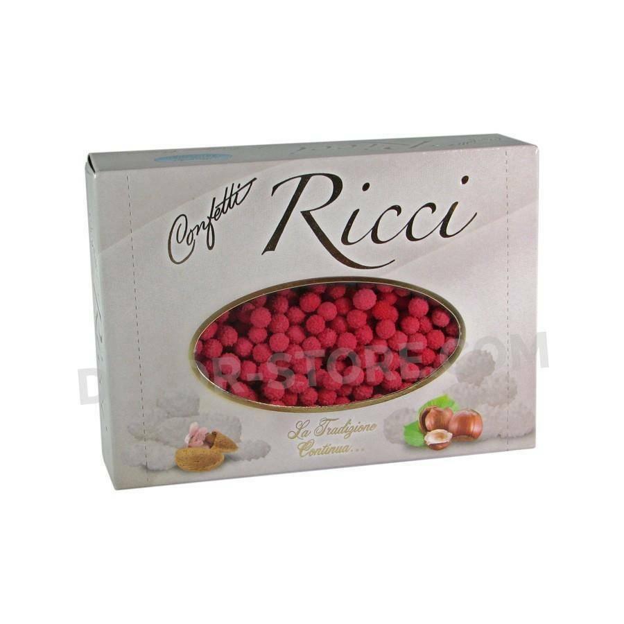 maxtris maxtris riccetti - confetti  rosso 1 kg