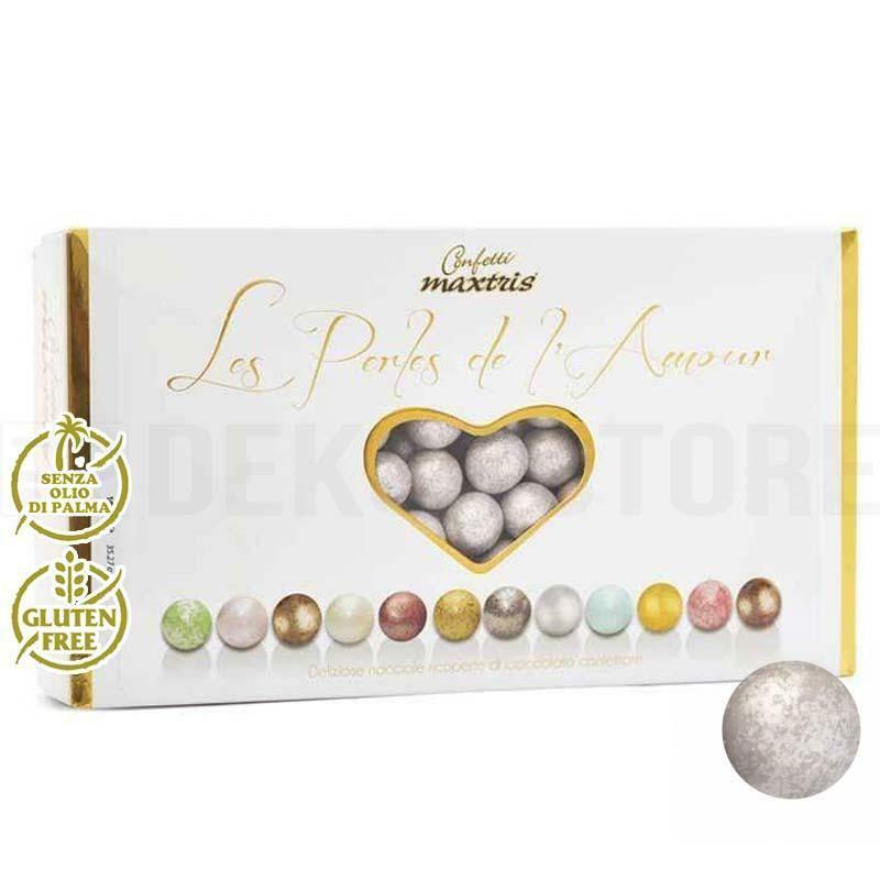 maxtris confetti maxtris les perles de l'amour ete' - argento perlato 1 kg