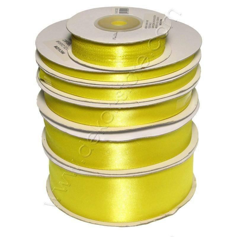 doppio raso 3 mm giallo x 50 mt - satinato
