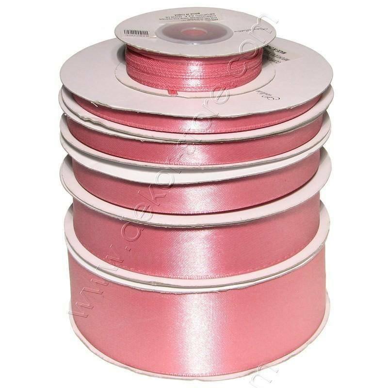 doppio raso 3 mm rosa antico x 50 mt - satinato