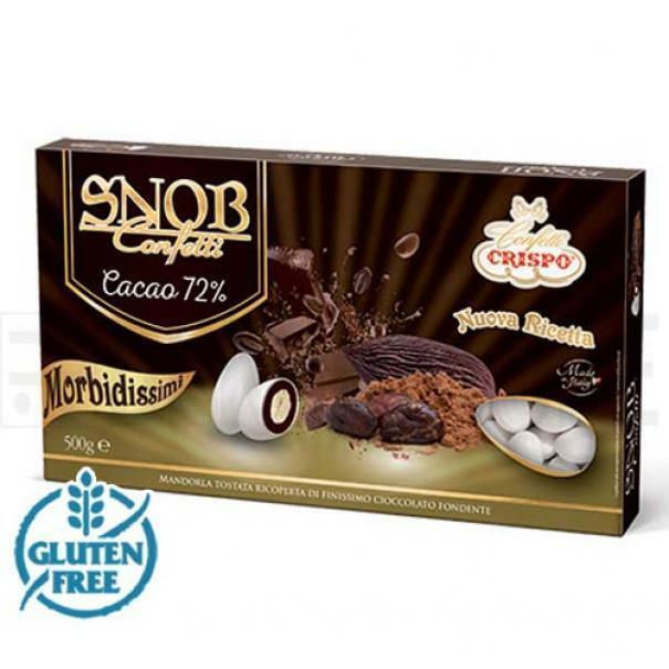crispo confetti crispo cacao fondente - snob 500 gr
