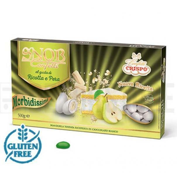 crispo confetti crispo ricotta e pera - colore verde snob 500 gr