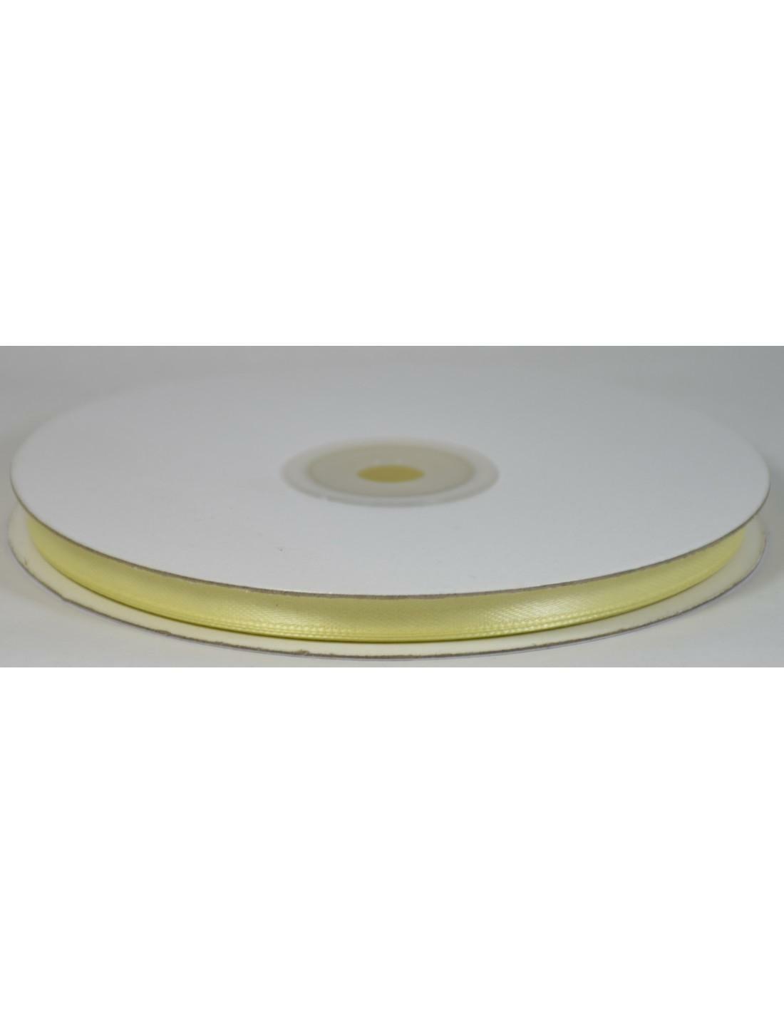 doppio raso 6 mm giallo crema x 50 mt - satinato