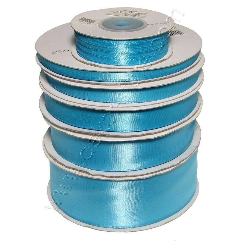doppio raso 10 mm azzurro x 50 mt - satinato