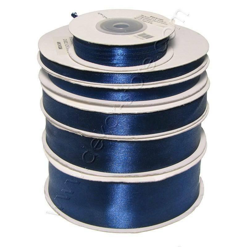 doppio raso 10 mm blu notte x 50 mt - satinato
