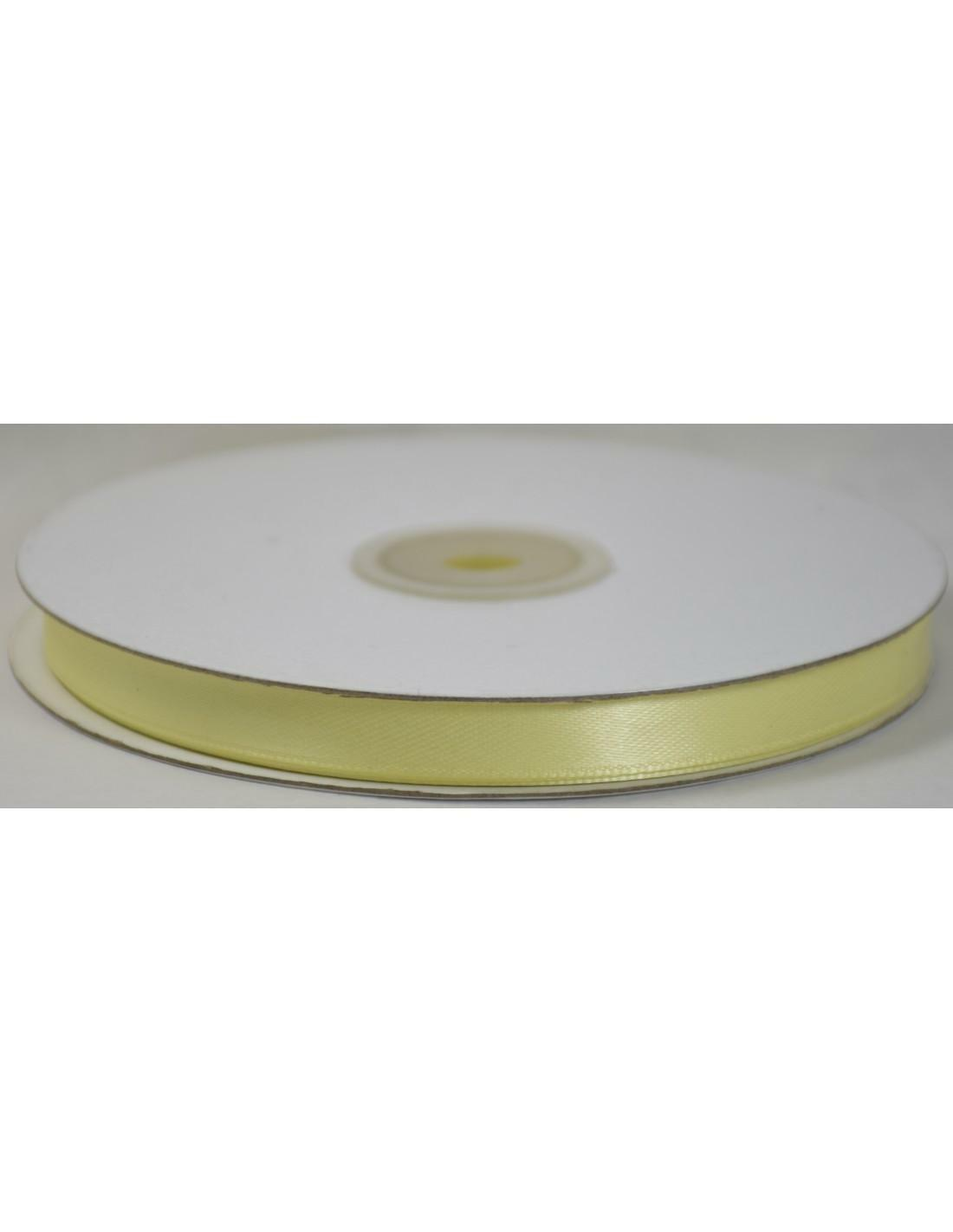doppio raso 10 mm giallo crema x 50 mt - satinato