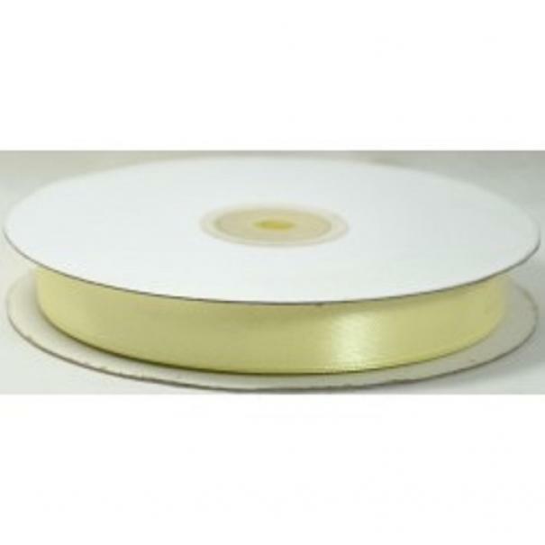 doppio raso 15 mm giallo crema x 50 mt - satinato