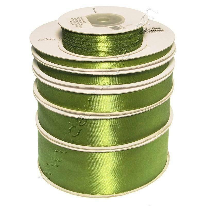 doppio raso 15 mm verde oliva x 50 mt - satinato