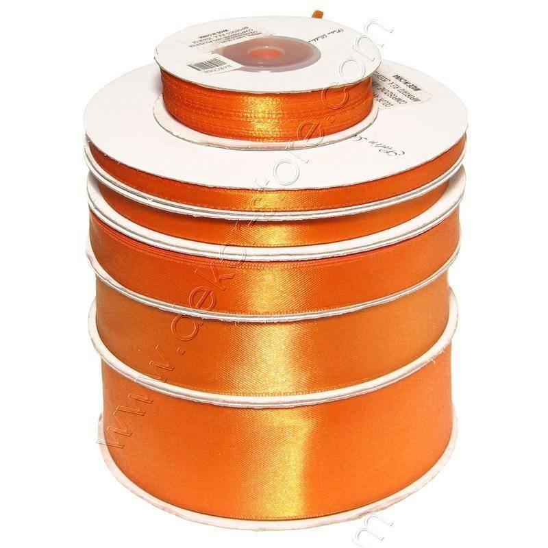 doppio raso 25 mm arancio x 50 mt - satinato