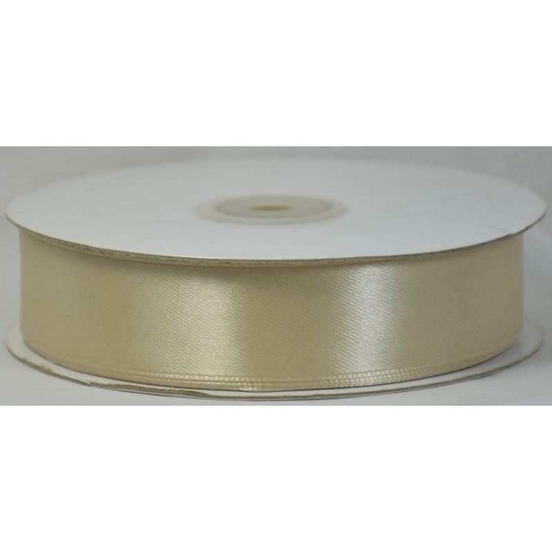 doppio raso beige 25 mm x 50 mt - satinato
