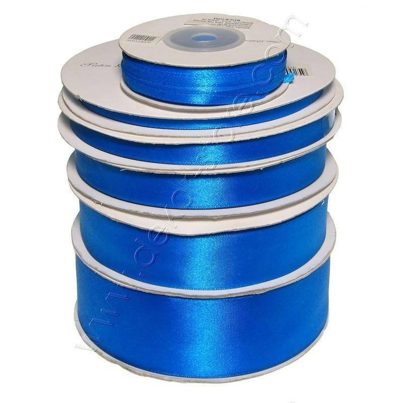 doppio raso 25 mm blu/bluette x 50 mt - satinato