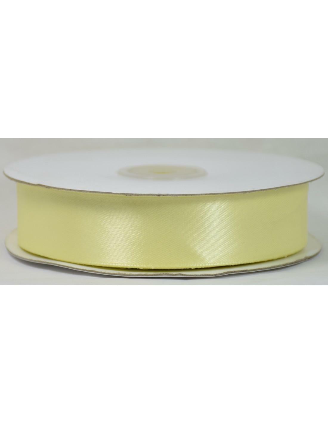 doppio raso 25 mm giallo crema x 50 mt - satinato