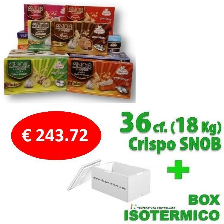 crispo kit risparmio confetti crispo snob 18 kg / 36 conf. 500gr gusti personalizzati - per 160/210 invitati