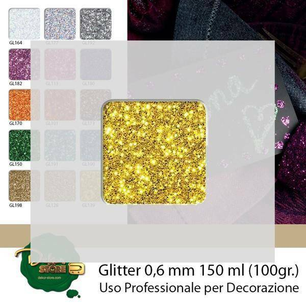 eurosand glitter 0,6 mm oro in bottiglia - 100 gr