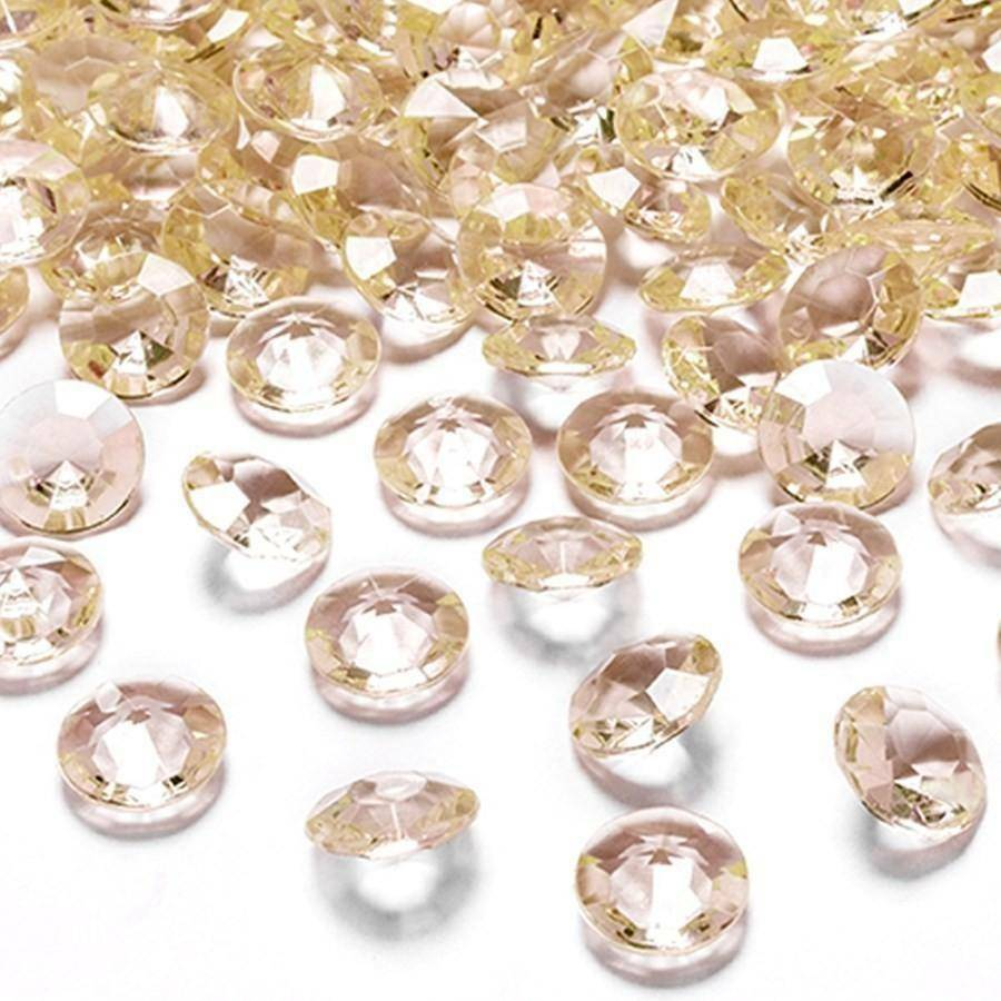 eurosand diamanti in pvc champagne 19 mm (100 ml - 45 pz ca.)