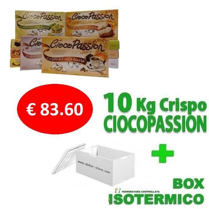 crispo kit risparmio confetti crispo ciocopassion 10 kg gusti personalizzati - per 100/150 invitati
