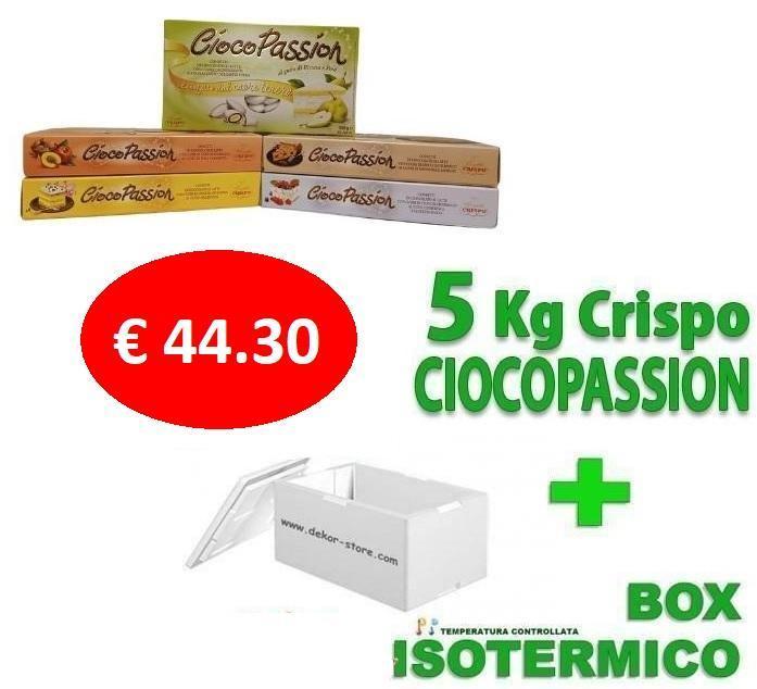 crispo kit risparmio confetti crispo ciocopassion 5 kg gusti personalizzati - per 50/75 invitati