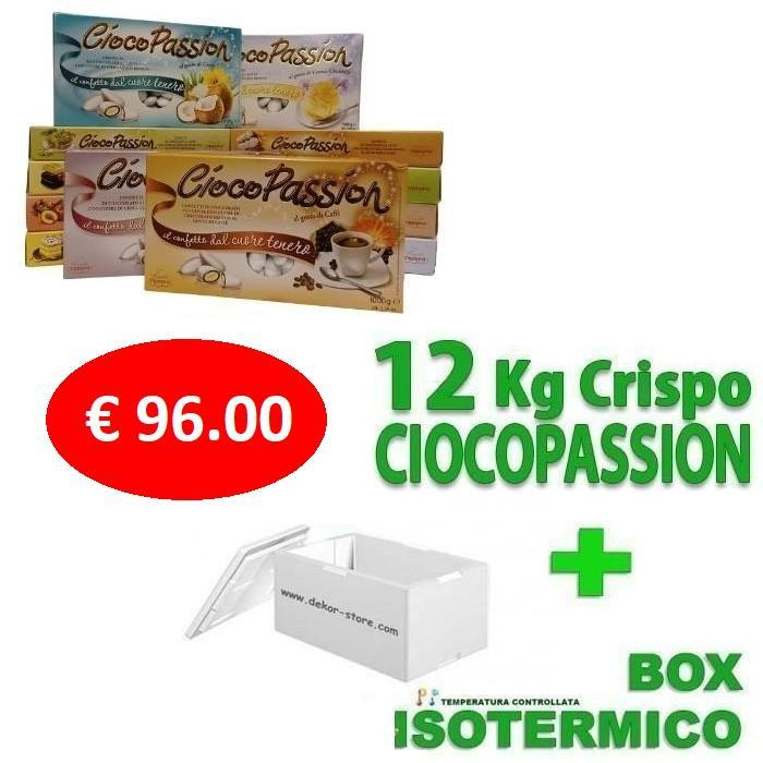 crispo kit risparmio confetti crispo ciocopassion 12 kg gusti personalizzati - per 120/160 invitati