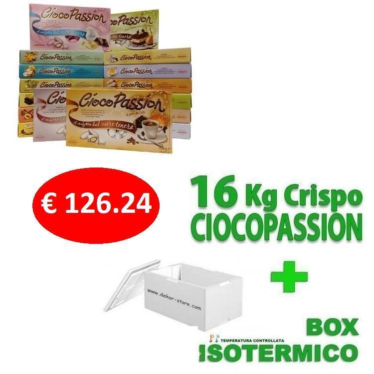 crispo kit risparmio confetti crispo ciocopassion 16 kg gusti personalizzati - per 160/240 invitati
