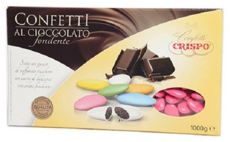 crispo crispo fucsia - confetti al cioccolato fondente 1 kg
