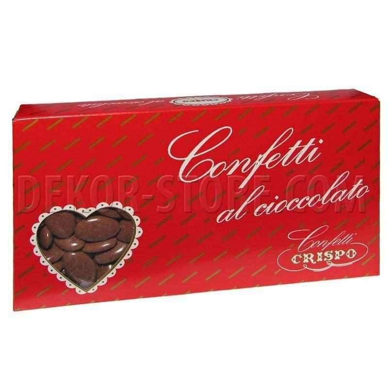 crispo crispo marrone - confetti al cioccolato fondente 1 kg