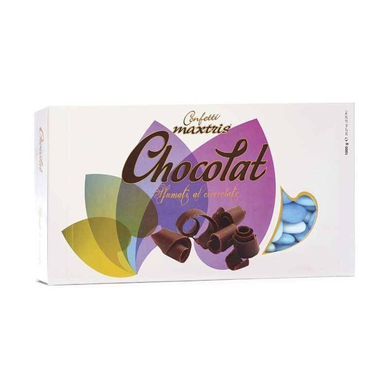 maxtris maxtris sfumato blu - confetti  cioccolato fondente (1kg)