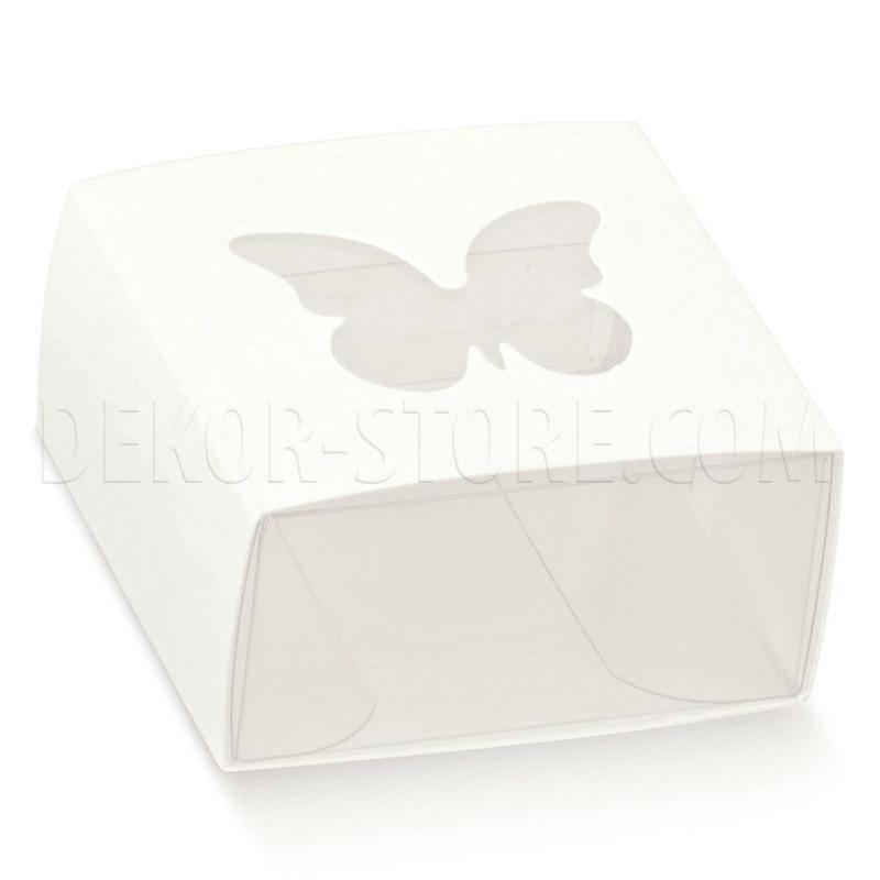 scotton spa astuccio in pvc trasparente con fascetta e finestra a farfalla white 60x60x30 mm - 10 pz