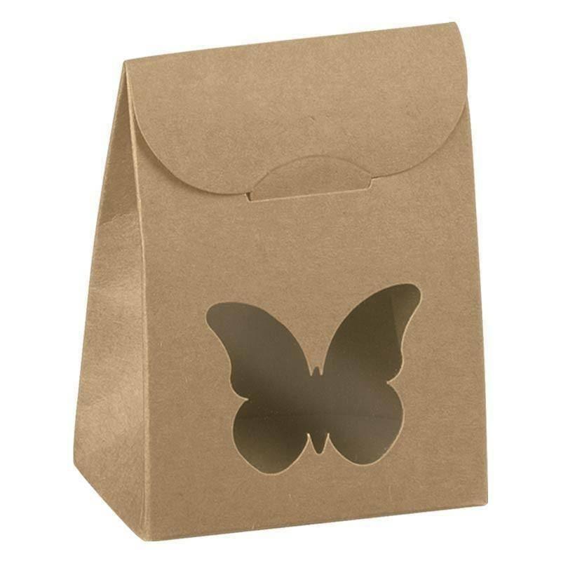 scotton spa scotton spa sacchetto 60x35x80 mm con finestra farfalla - avana