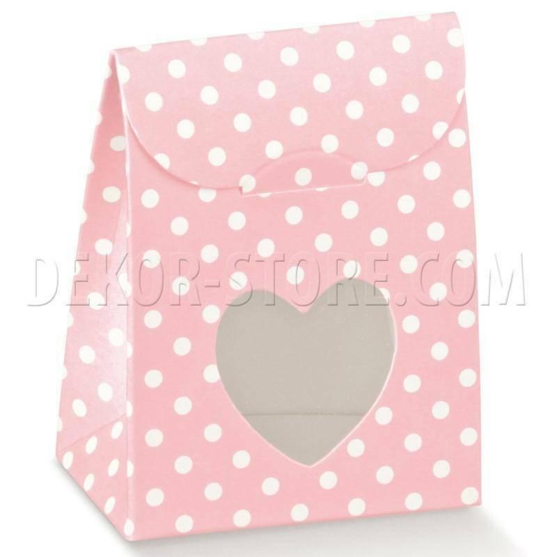 scotton spa scotton spa sacchetto 60x35x80 mm con finestra a cuore - atelier rosa