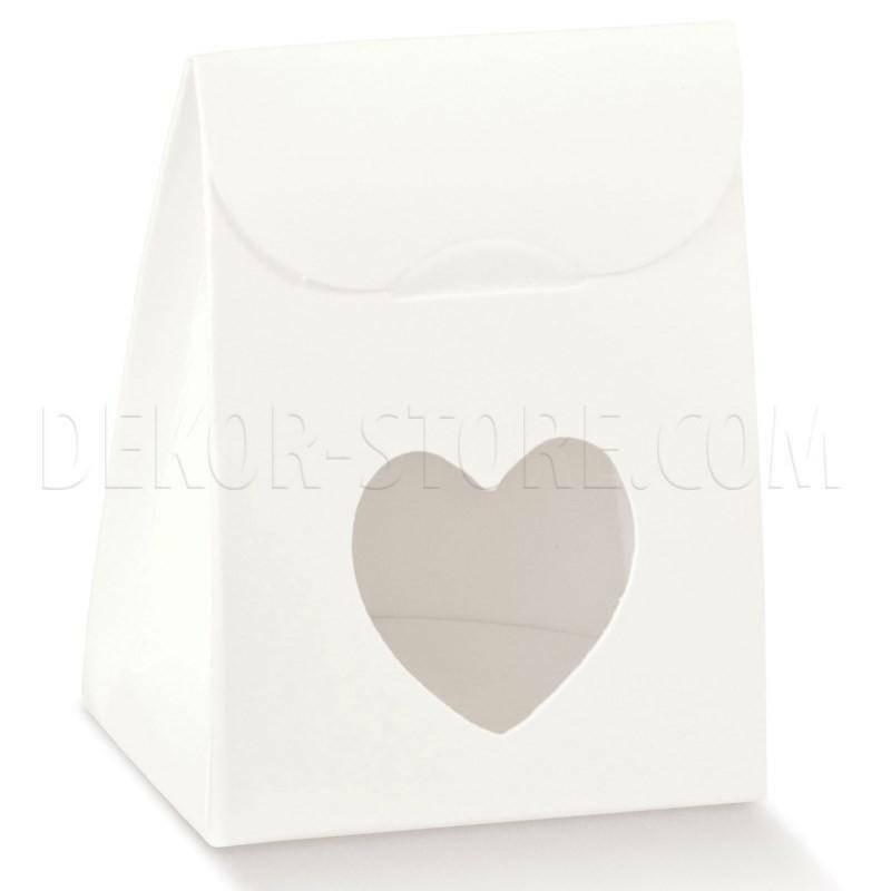 scotton spa sacchetto con finestra a cuore white 60x35x80 mm - 10 pz