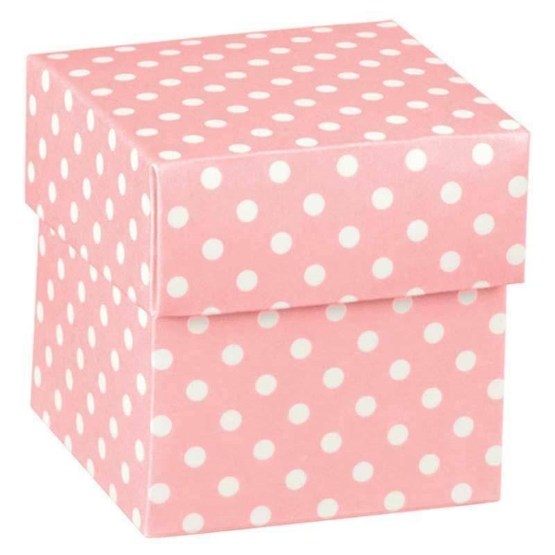 scotton spa scatolina porta confetti fondo e coperchio atelier rosa 50x50x50 mm - 10 pz