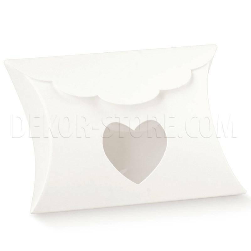 scotton spa scotton spa portaconfetti 80x85x30 mm a forma di busta con finestra a cuore - white