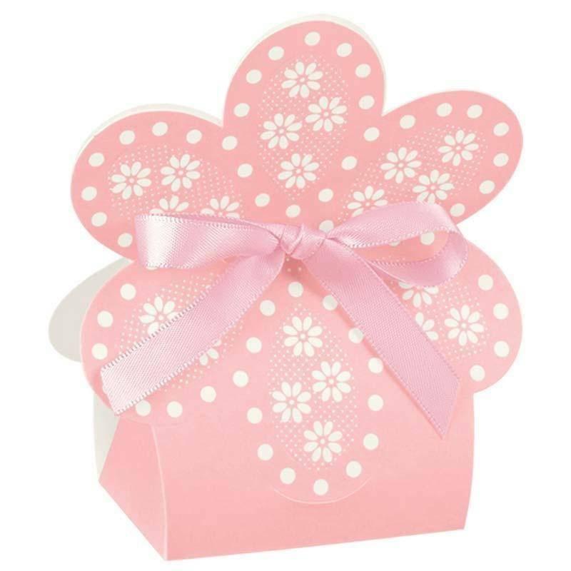 scotton spa scatolina a forma di fiore atelier rosa 60x40x110 mm - 10 pz
