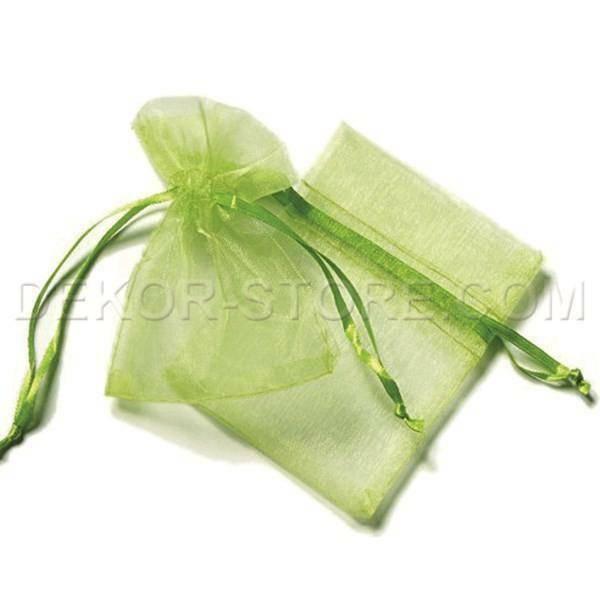 sacchetto 8,5x7 cm in organza verde