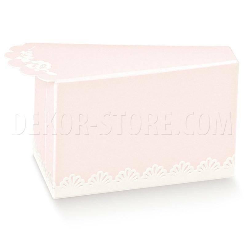 scotton spa fetta di torta porta confetti shabby chic 80x45x50 mm - 10 pz
