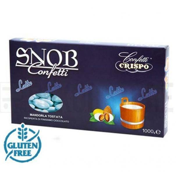 crispo confetti crispo latte - colore azzurro snob 1 kg