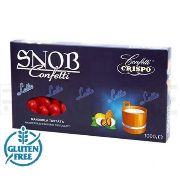 crispo confetti crispo latte - colore rosso snob 1 kg