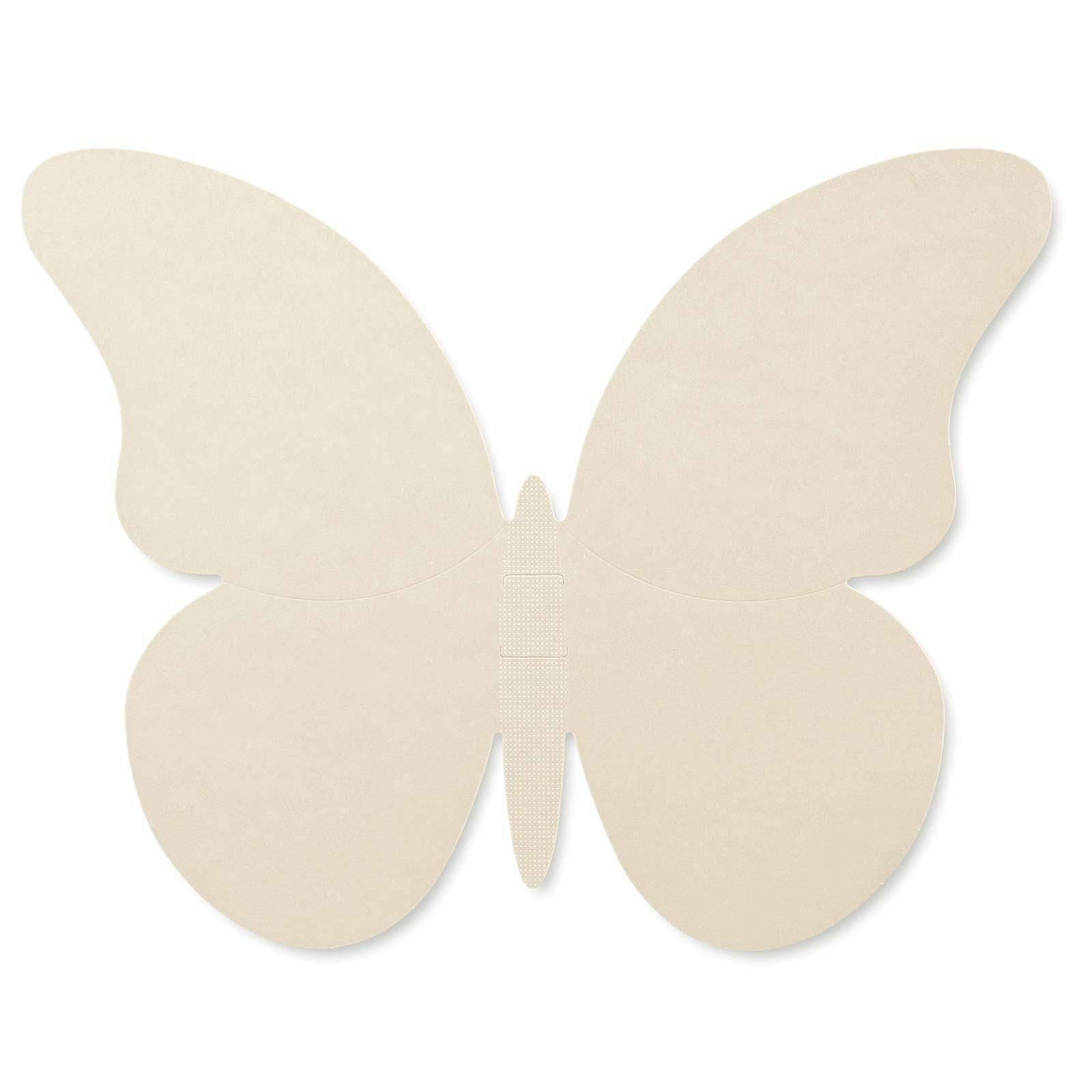 scotton spa farfalla in cartoncino atelier tortora 75x60 mm - 4 pz