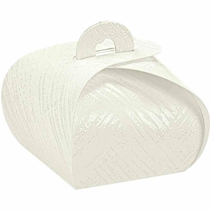 scotton spa tortina in cartoncino tela bianco 40x40x35 mm - 10 pz