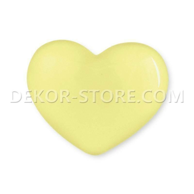 scotton spa scotton spa cuore giallo in resina - 18 x 15 mm
