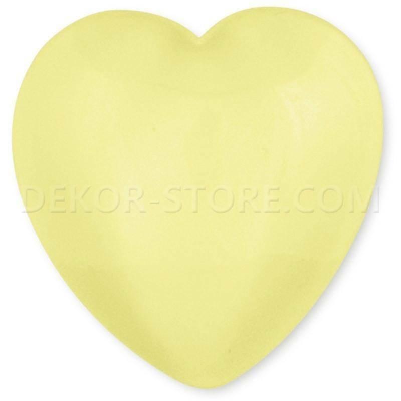 scotton spa scotton spa cuore giallo in resina - 23 x 25 mm