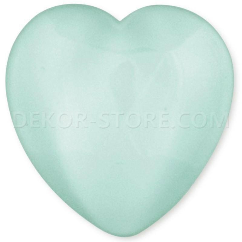 scotton spa scotton spa cuore verde acqua in resina - 18 x 15 mm