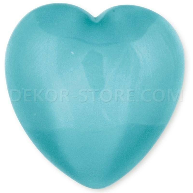 scotton spa scotton spa cuore azzurro in resina - 23 x 25 mm