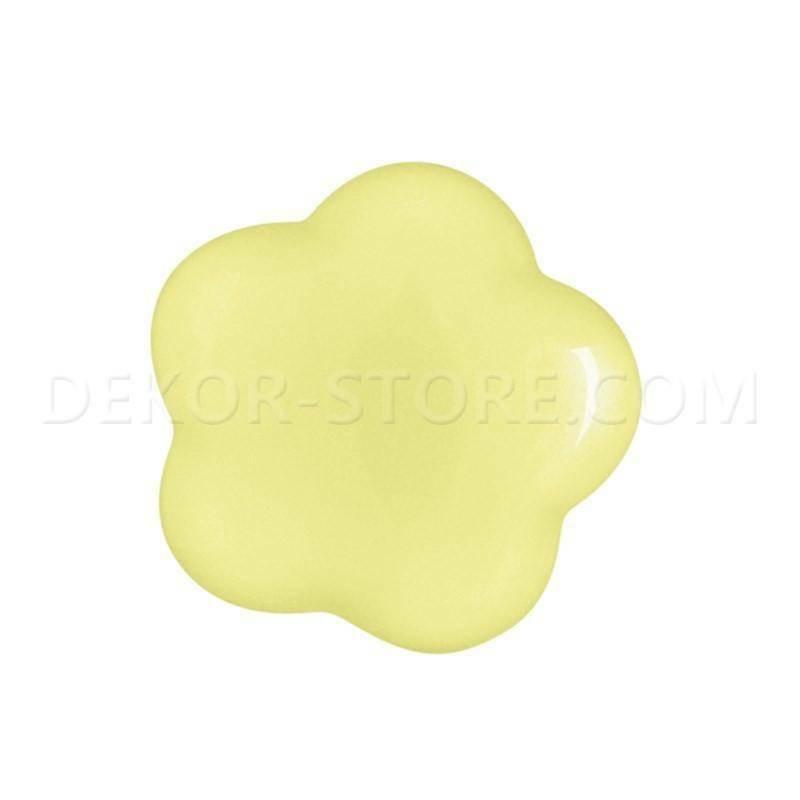 scotton spa scotton spa fiore stilizzato giallo in resina - 15 x 15 mm