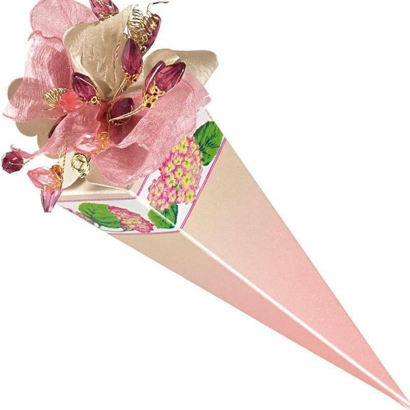 scotton spa cono quadrato ortensie rosa 155 mm - 10 pz