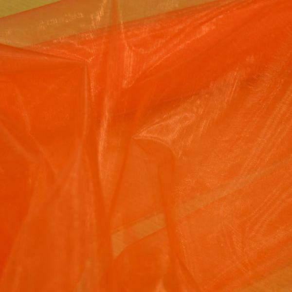 organza arancio - 37 cm x 10 yd