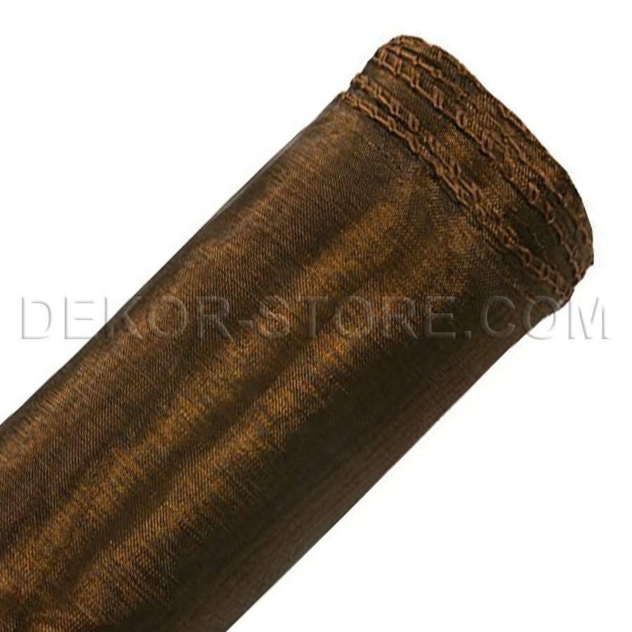 organza marrone 37 cm x 9 mt con bordi.