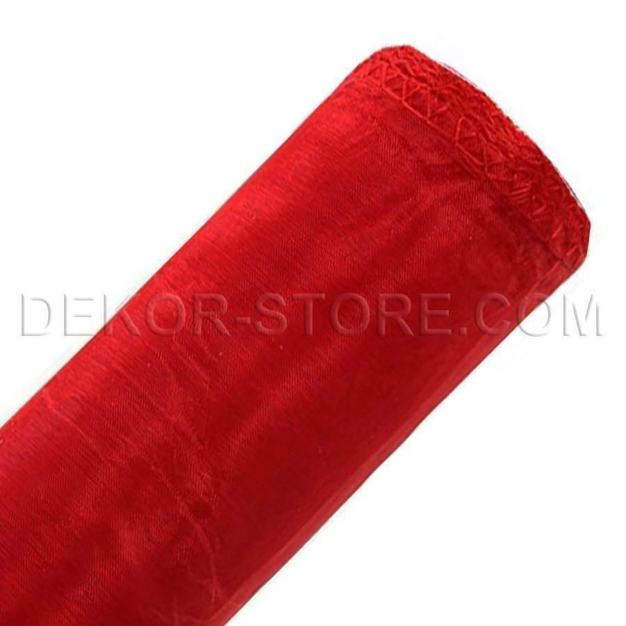 organza rosso - 37 cm x 10 yd